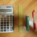 寺田さん、物差しを18センチで切断する