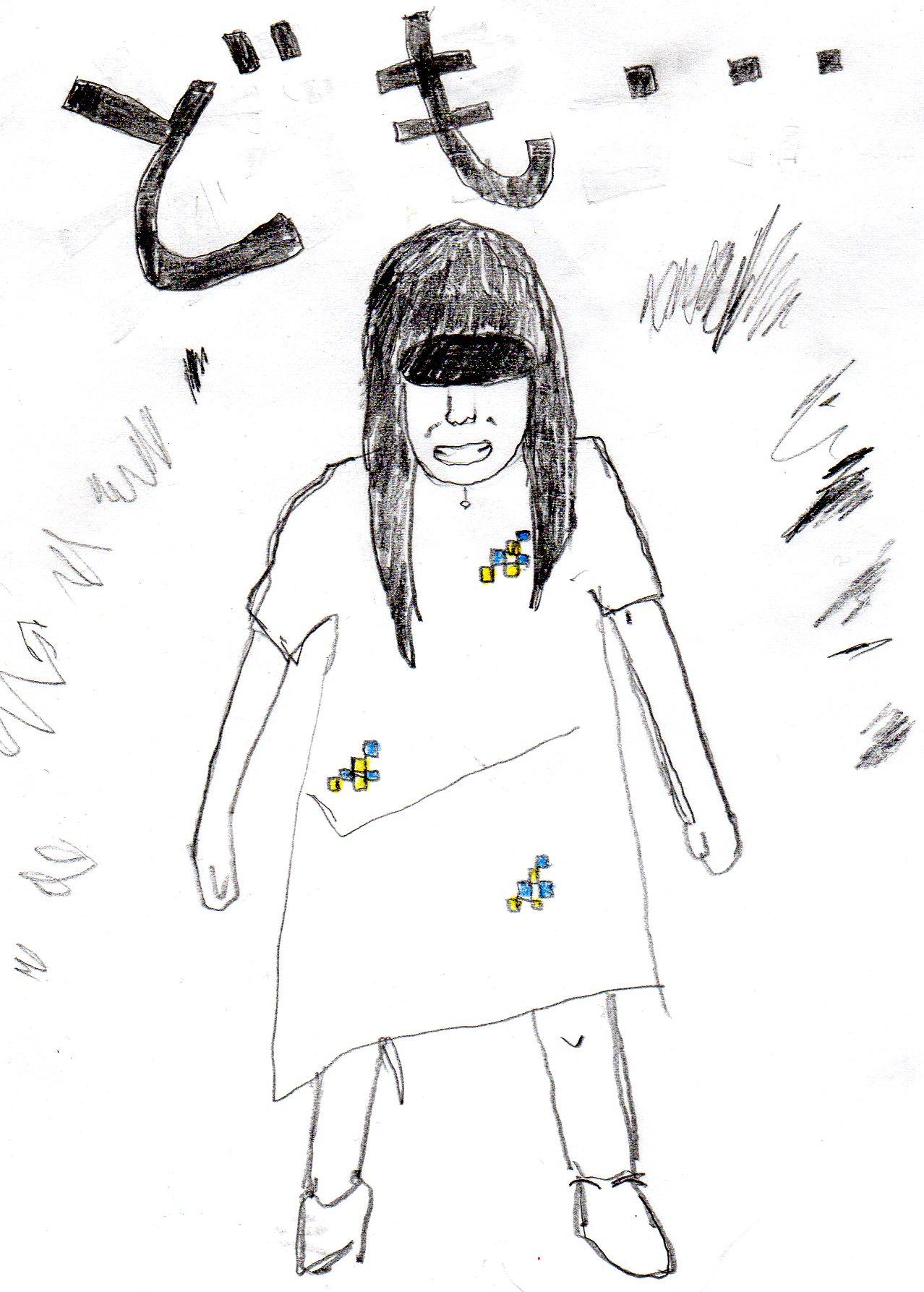 山崎愛ちゃんが女子高に入学するようお百度参りをする